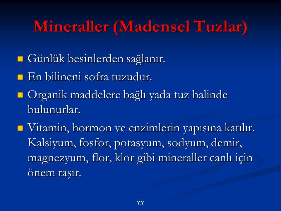Mineraller (Madensel Tuzlar)