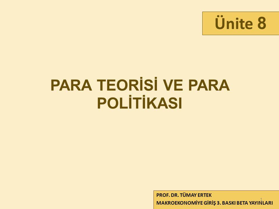 PARA TEORİSİ VE PARA POLİTİKASI