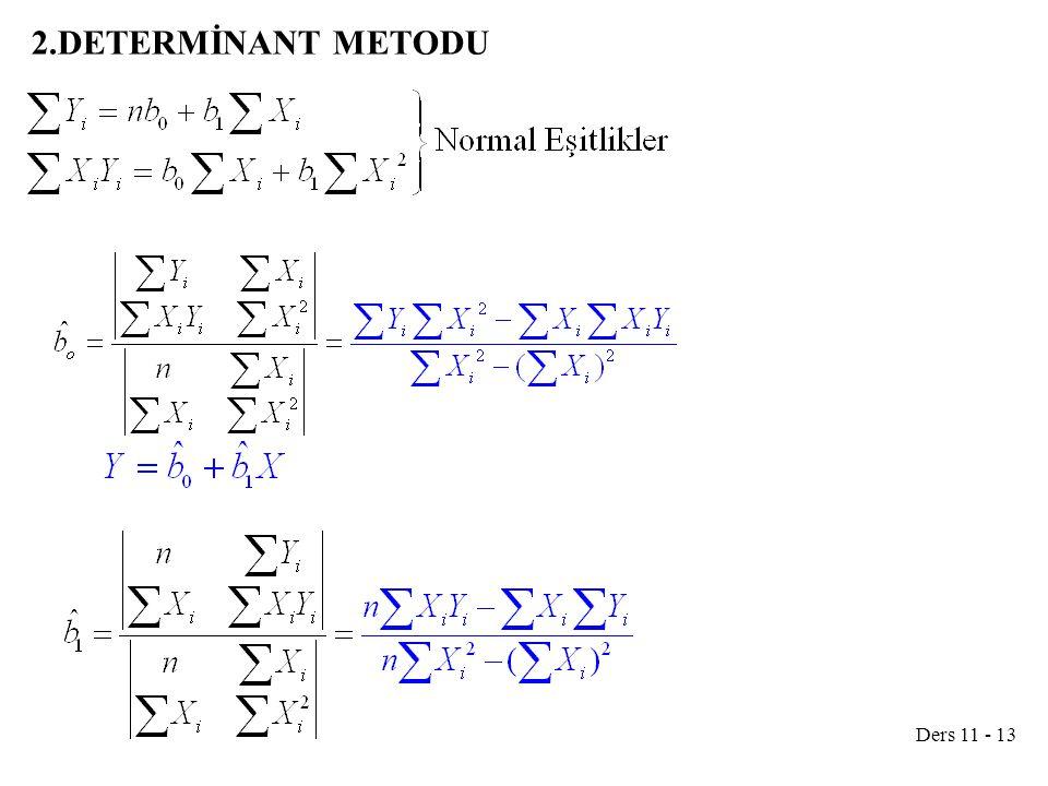 2.DETERMİNANT METODU