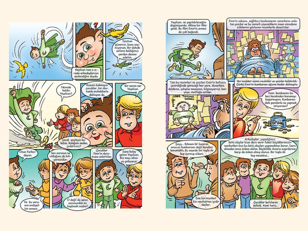 Ayrıca bakınız: Yeşilcan'la Sağlıcakla adlı Yeşilay tarafından hazırlanmış kitapçık, s. 8-9.