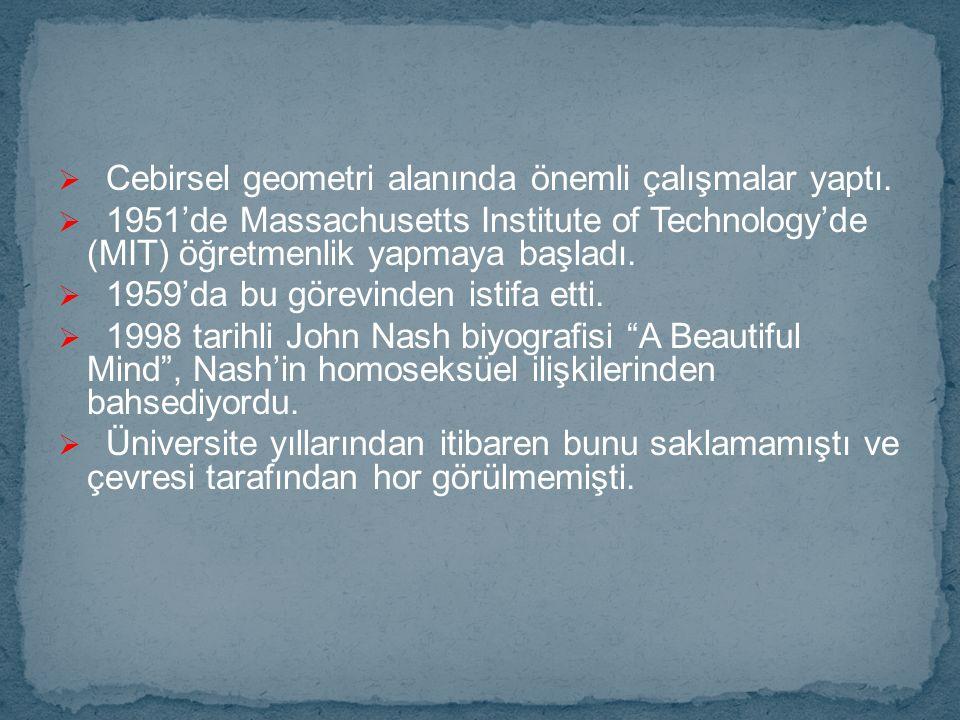 Cebirsel geometri alanında önemli çalışmalar yaptı.