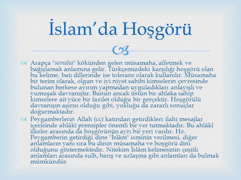 İslam'da Hoşgörü