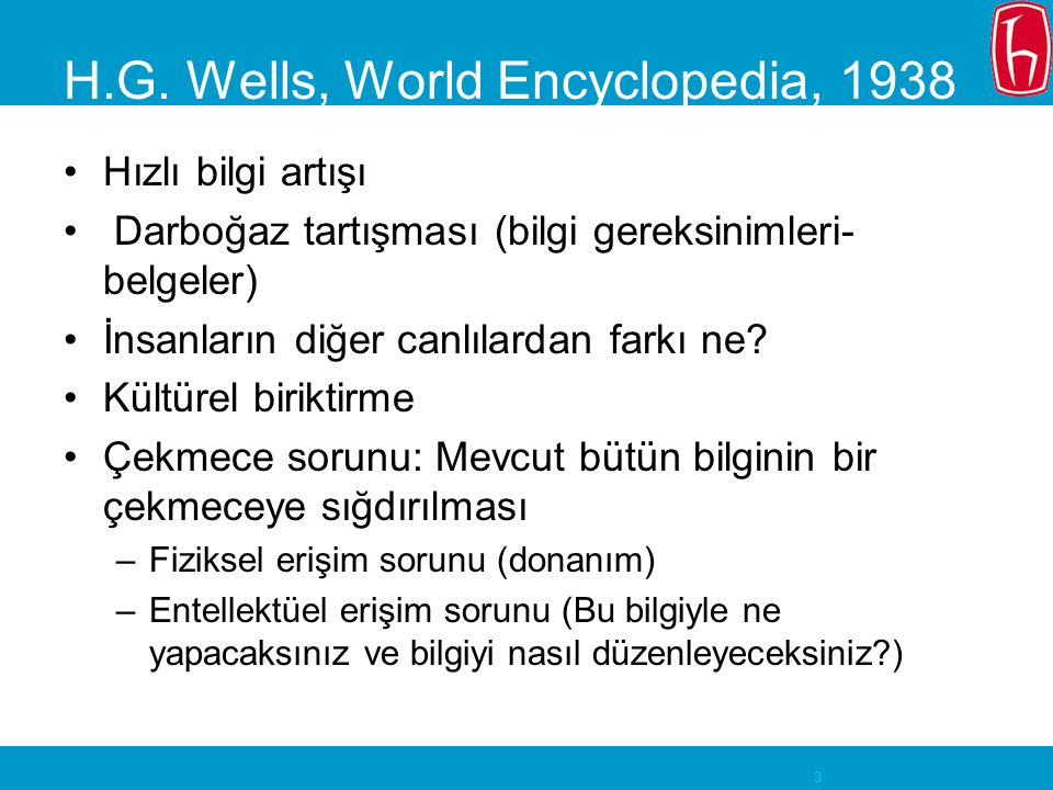 H.G. Wells, World Encyclopedia, 1938