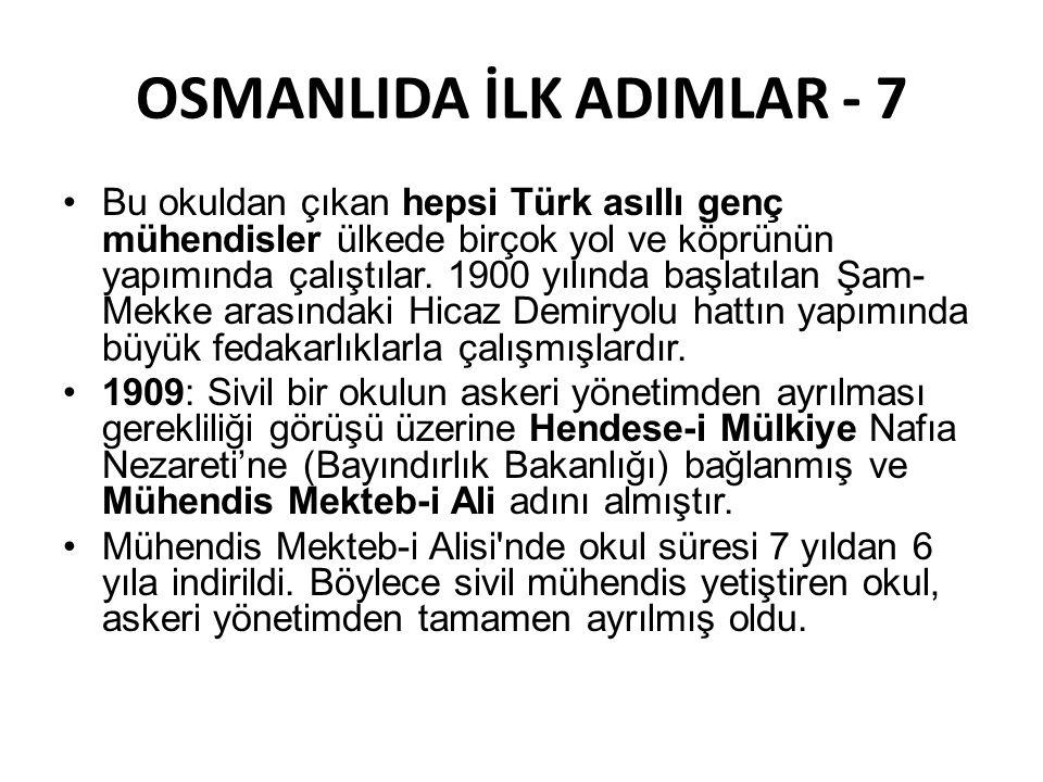 OSMANLIDA İLK ADIMLAR - 7