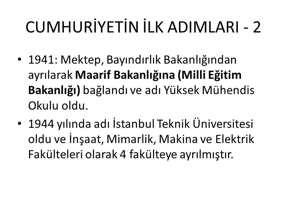 CUMHURİYETİN İLK ADIMLARI - 2