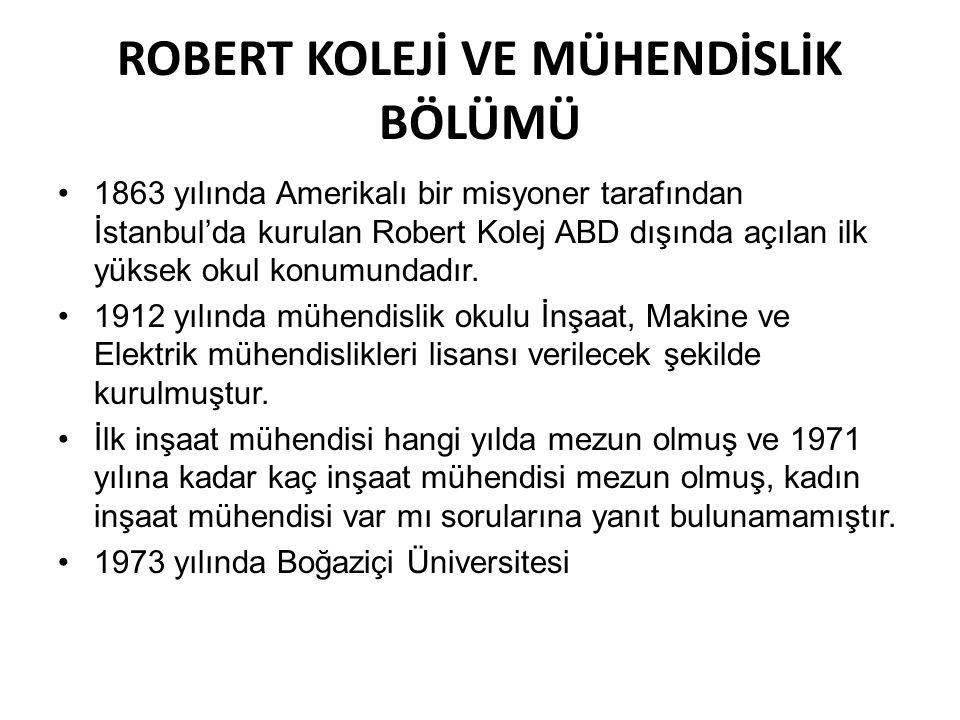 ROBERT KOLEJİ VE MÜHENDİSLİK BÖLÜMÜ