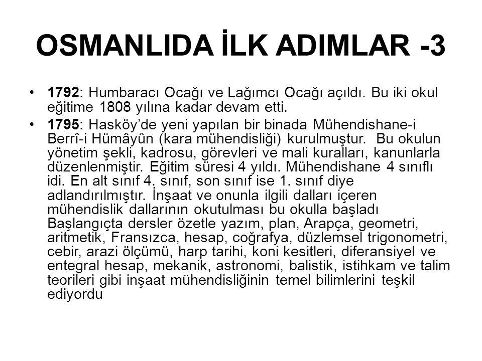 OSMANLIDA İLK ADIMLAR -3