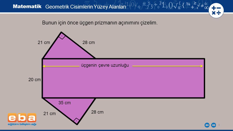 Geometrik Cisimlerin Yüzey Alanları