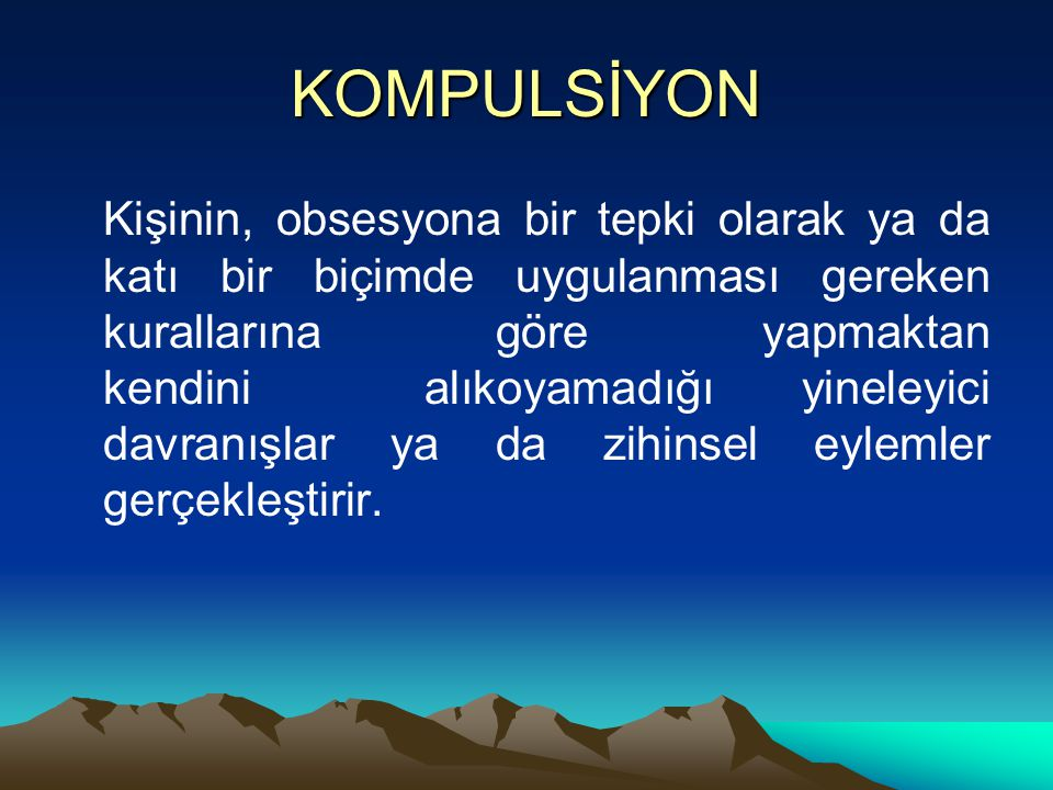 KOMPULSİYON