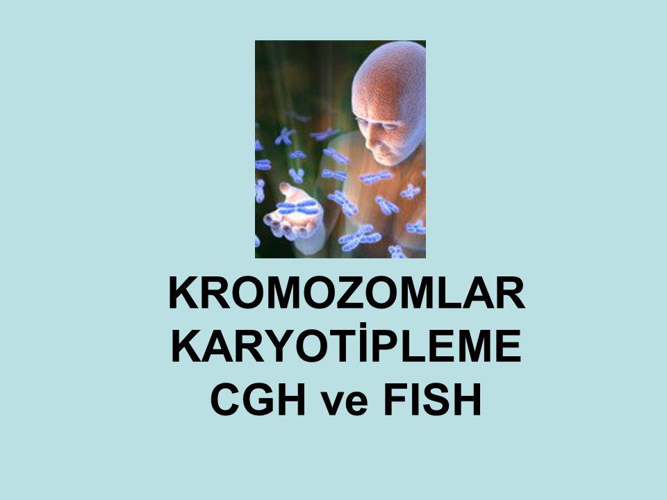 KROMOZOMLAR KARYOTİPLEME CGH ve FISH