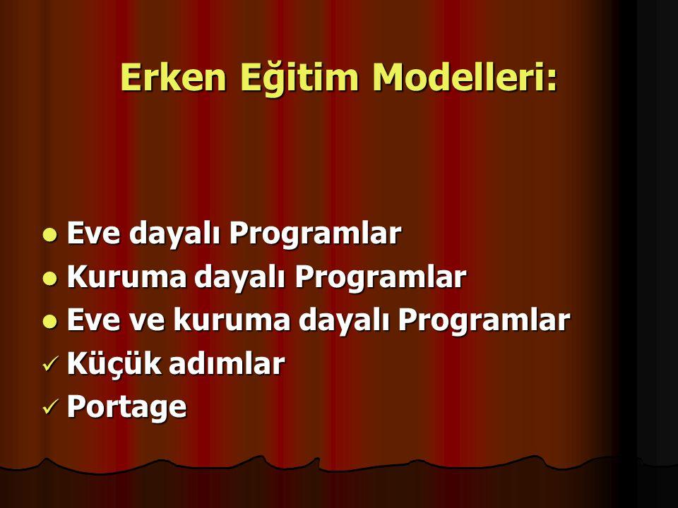 Erken Eğitim Modelleri: