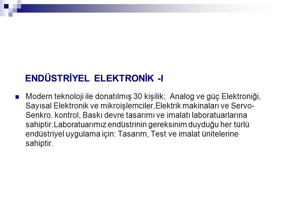 ENDÜSTRİYEL ELEKTRONİK -I