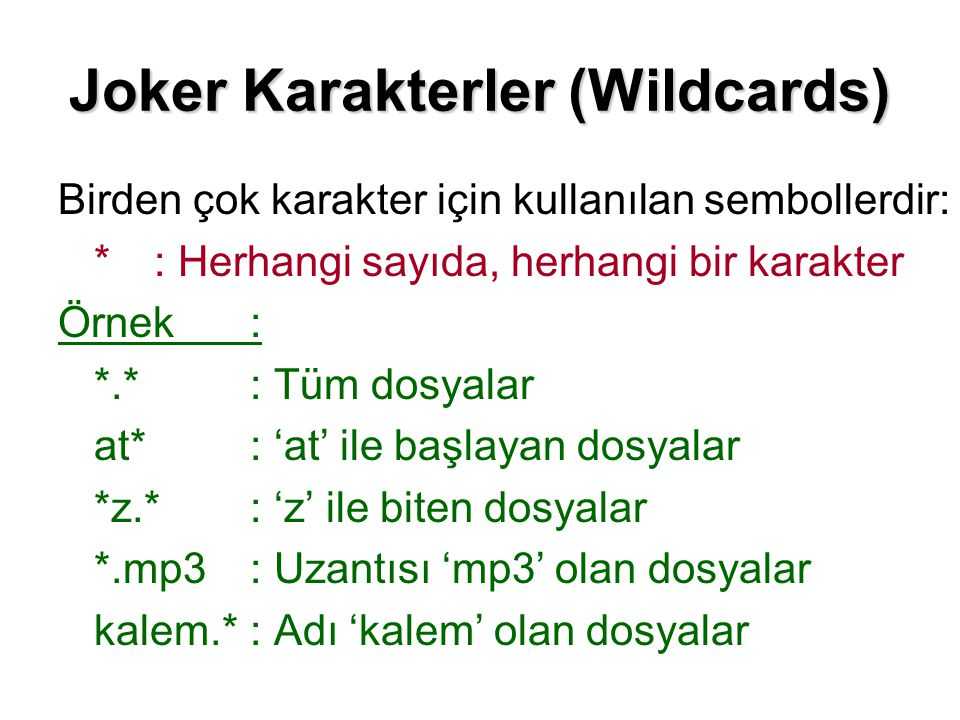 Joker Karakterler (Wildcards)