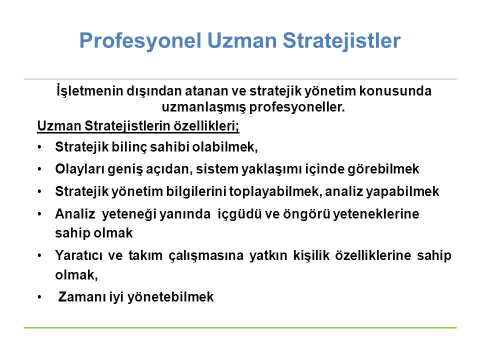 Profesyonel Uzman Stratejistler