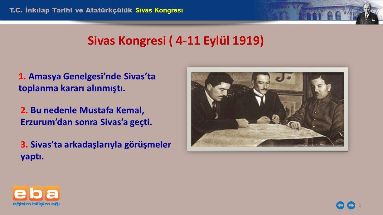 Sivas Kongresi ( 4-11 Eylül 1919)