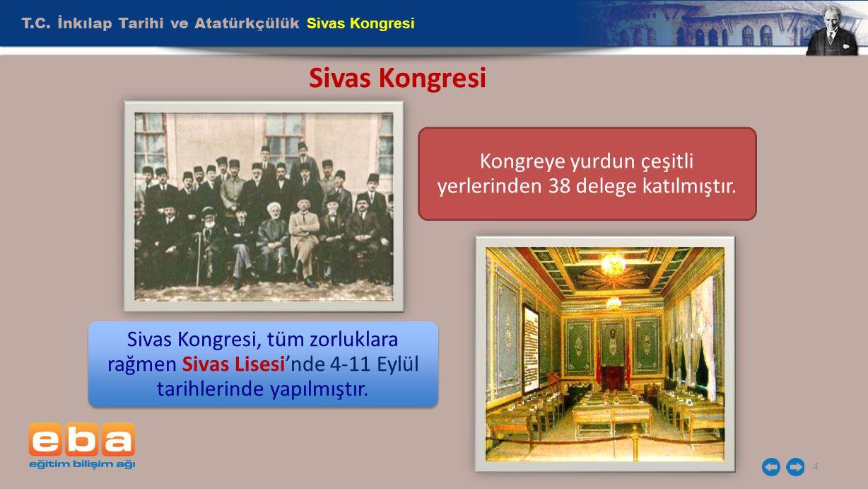 Kongreye yurdun çeşitli yerlerinden 38 delege katılmıştır.