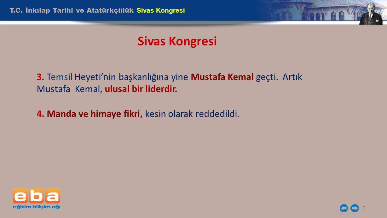 Sivas Kongresi T.C. İnkılap Tarihi ve Atatürkçülük Sivas Kongresi
