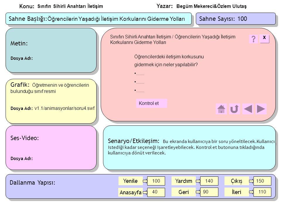 Grafik: Öğretmenin ve öğrencilerin