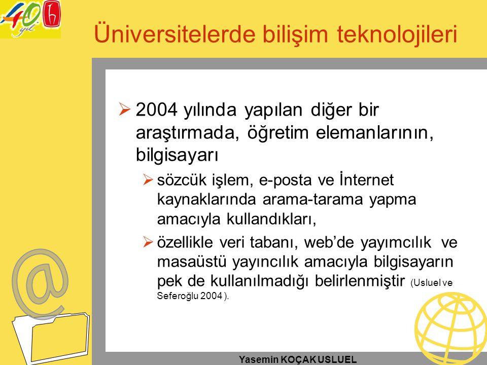 Üniversitelerde bilişim teknolojileri