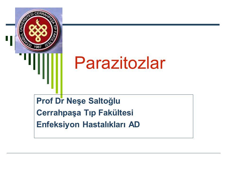 Parazitozlar Prof Dr Neşe Saltoğlu Cerrahpaşa Tıp Fakültesi