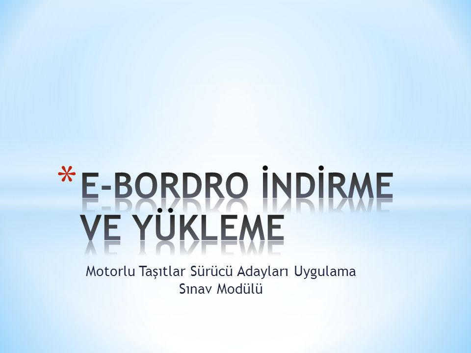 E-BORDRO İNDİRME VE YÜKLEME