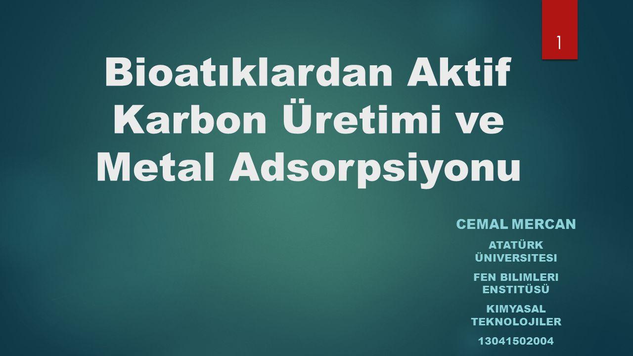 Bioatıklardan Aktif Karbon Üretimi ve Metal Adsorpsiyonu