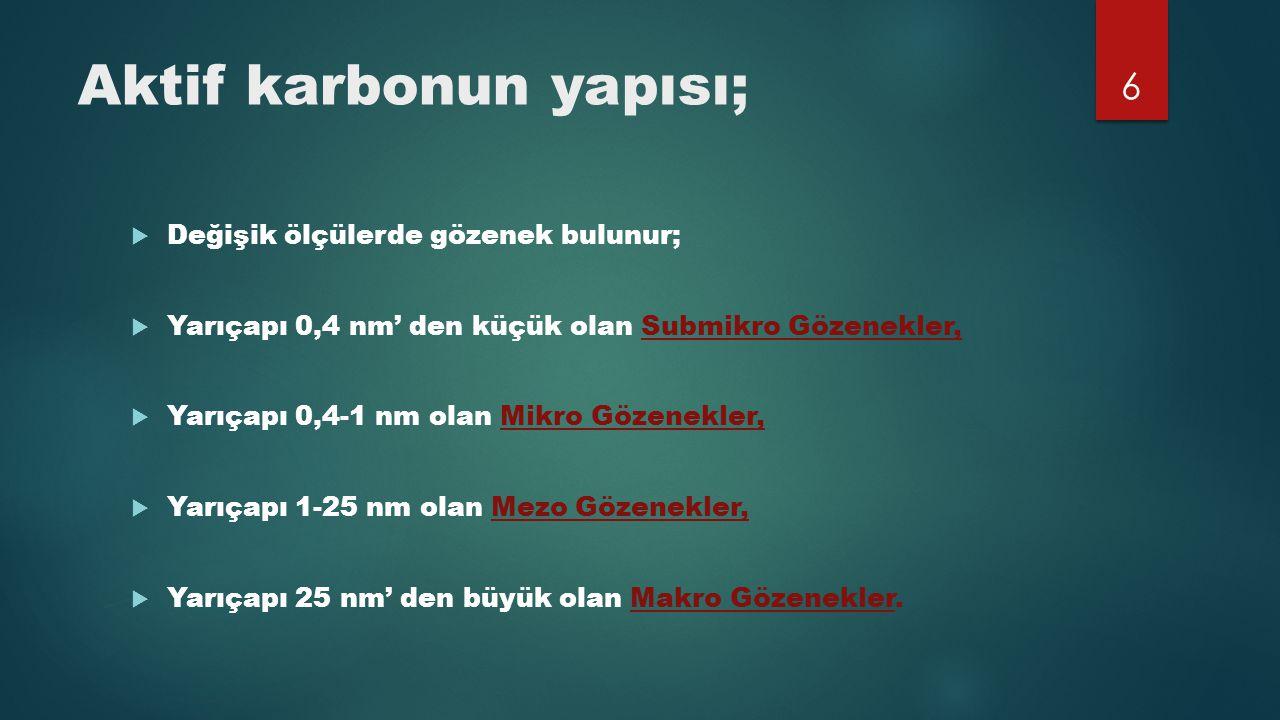 Aktif karbonun yapısı;