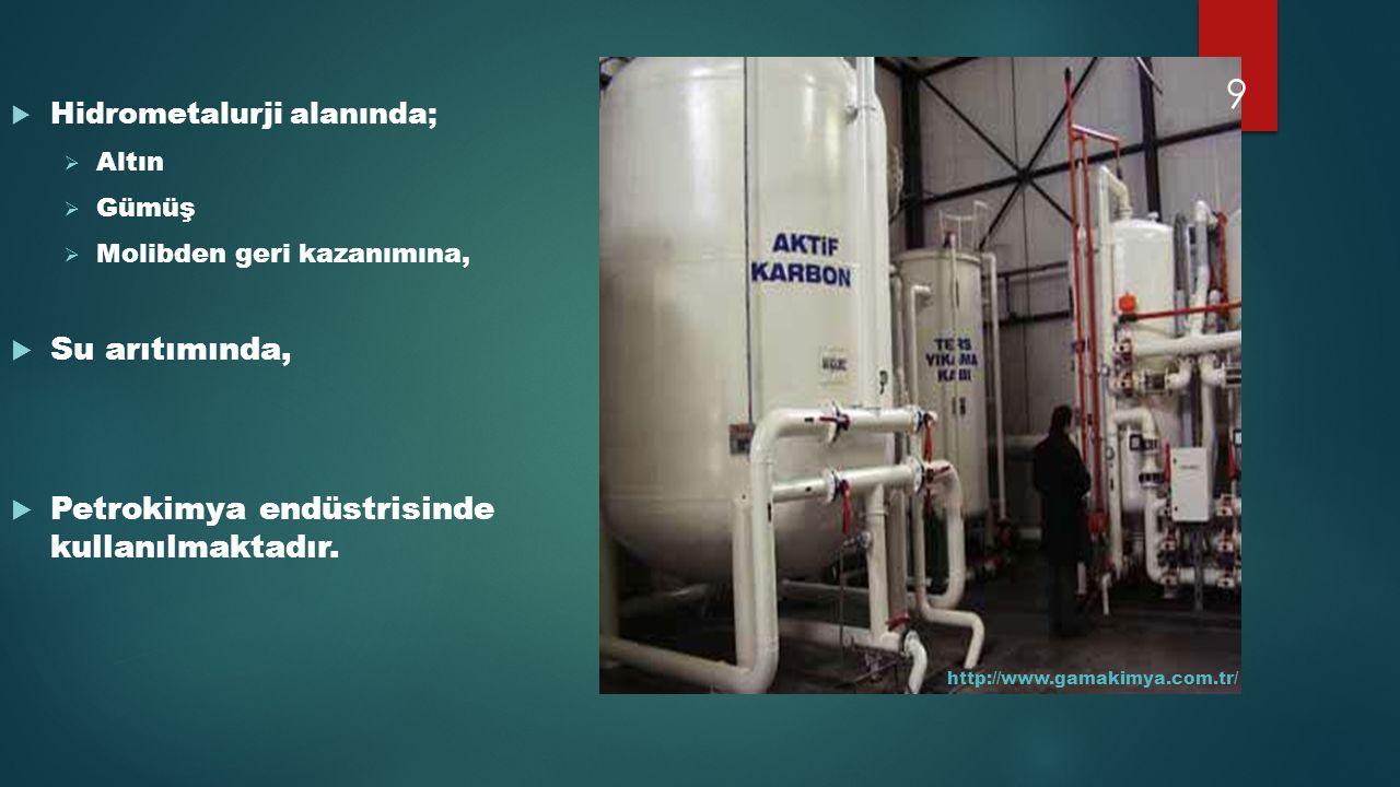 Petrokimya endüstrisinde kullanılmaktadır.