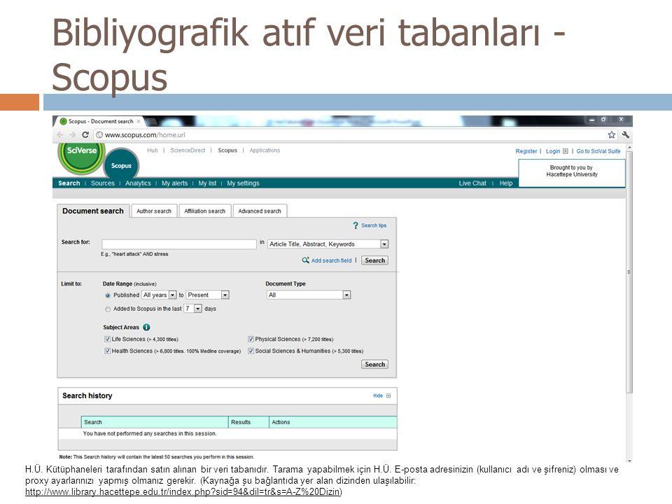 Bibliyografik atıf veri tabanları - Scopus