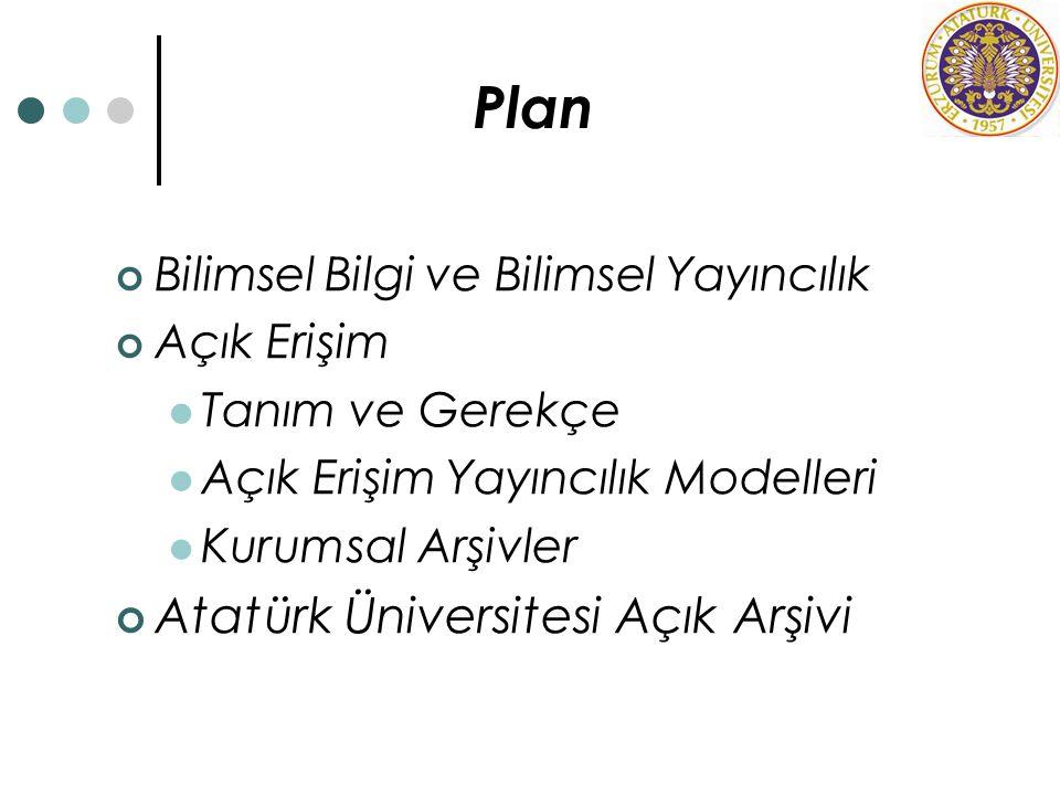 Plan Atatürk Üniversitesi Açık Arşivi
