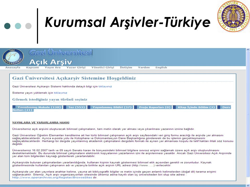 Kurumsal Arşivler-Türkiye
