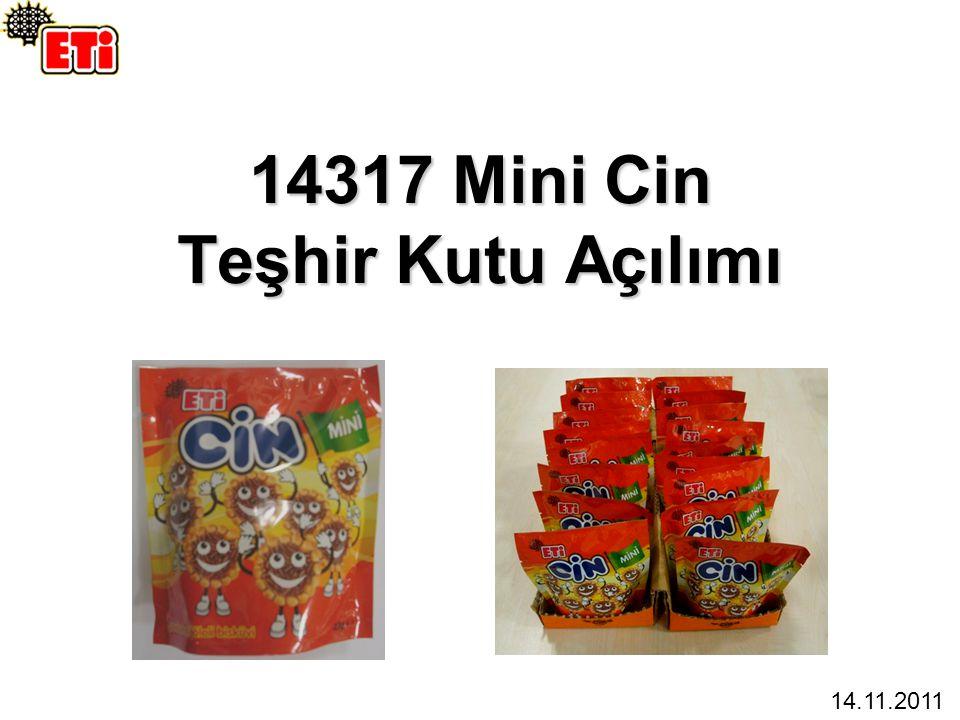 14317 Mini Cin Teşhir Kutu Açılımı