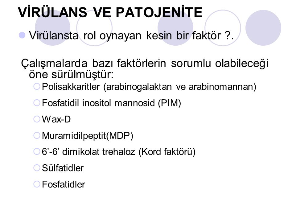 VİRÜLANS VE PATOJENİTE