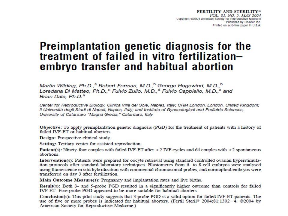 Literatüre baktığımızda preimplantasyon genetik tanı uygulamalarının idiopatik tekrarlayan gebelik kayıplarında kullanıldığı çok fazla yazı görmemekteyiz