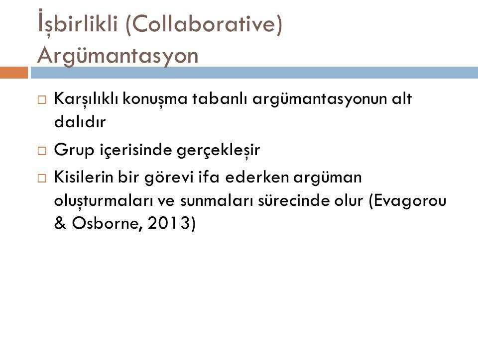 İşbirlikli (Collaborative) Argümantasyon