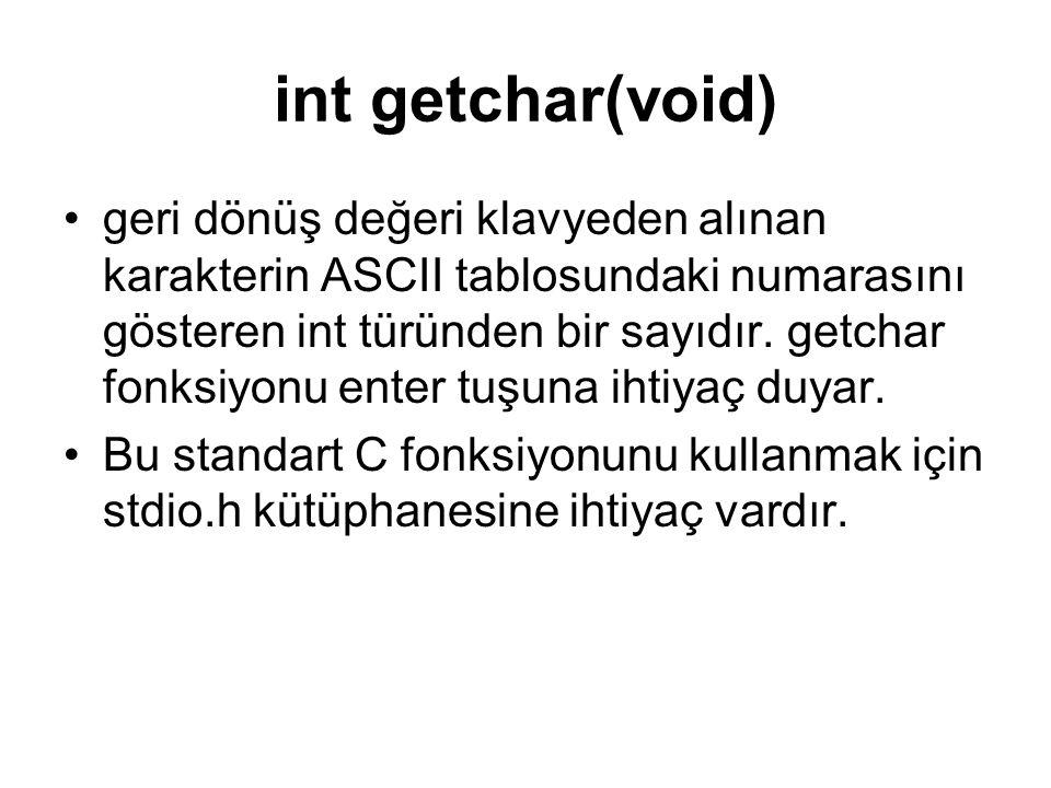 int getchar(void)