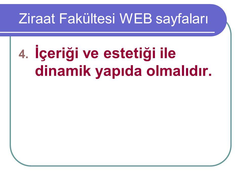 Ziraat Fakültesi WEB sayfaları