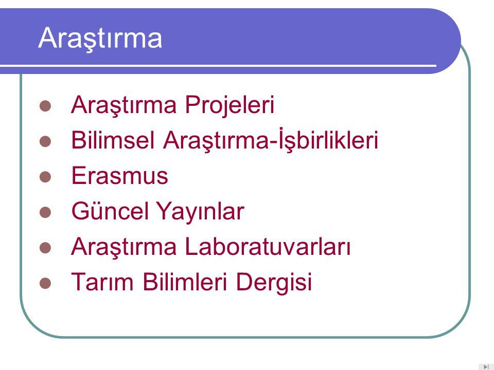 Araştırma Araştırma Projeleri Bilimsel Araştırma-İşbirlikleri Erasmus