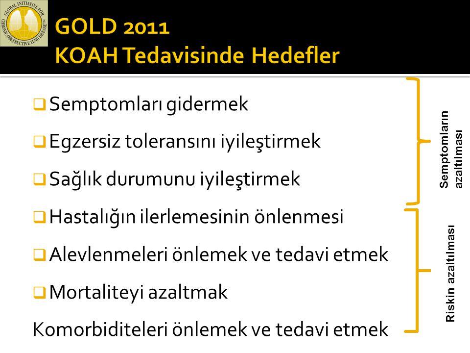 GOLD 2011 KOAH Tedavisinde Hedefler