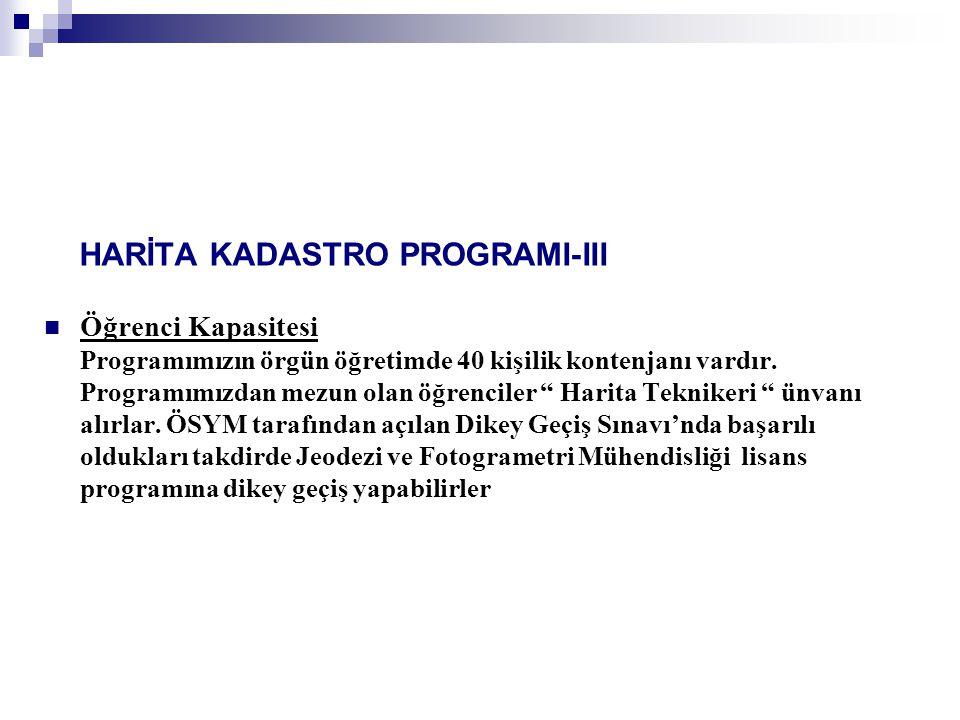 HARİTA KADASTRO PROGRAMI-III