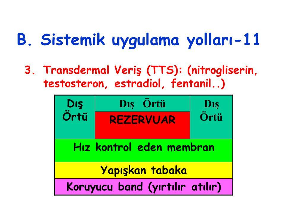 B. Sistemik uygulama yolları-11