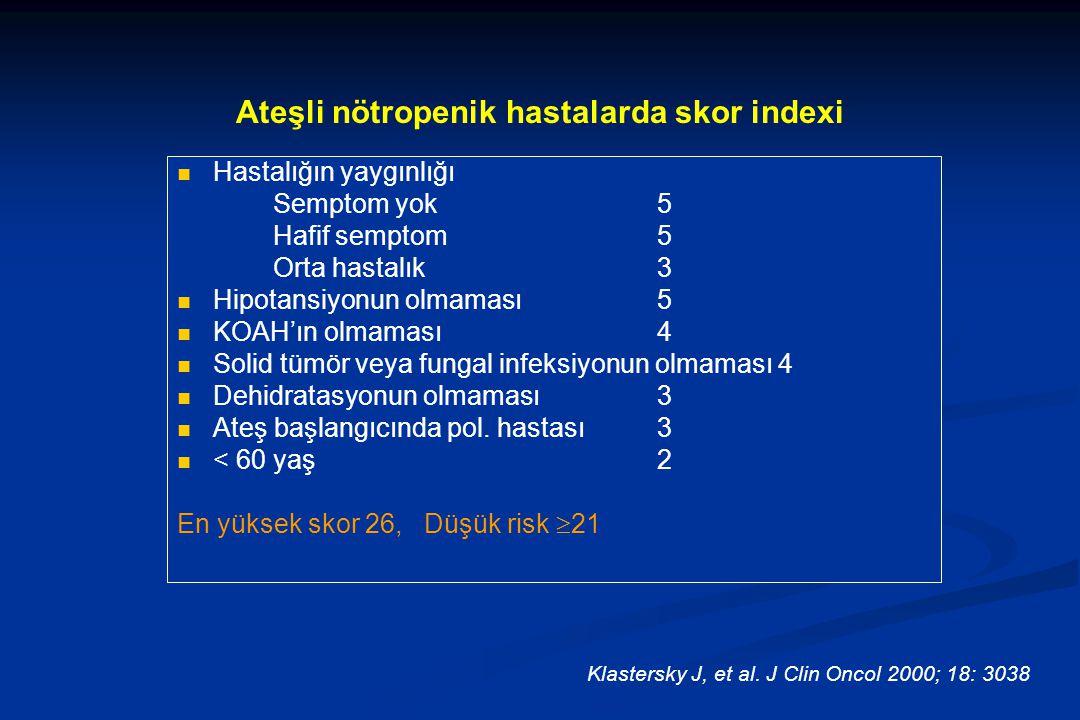 Ateşli nötropenik hastalarda skor indexi