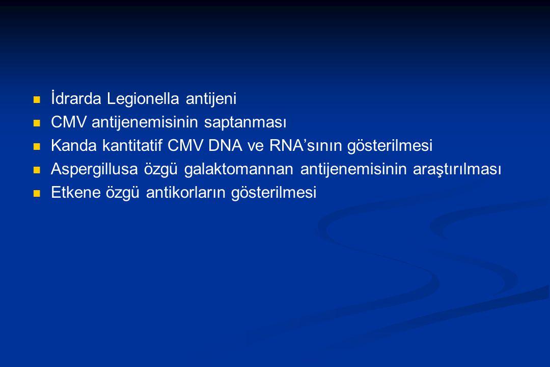 İdrarda Legionella antijeni
