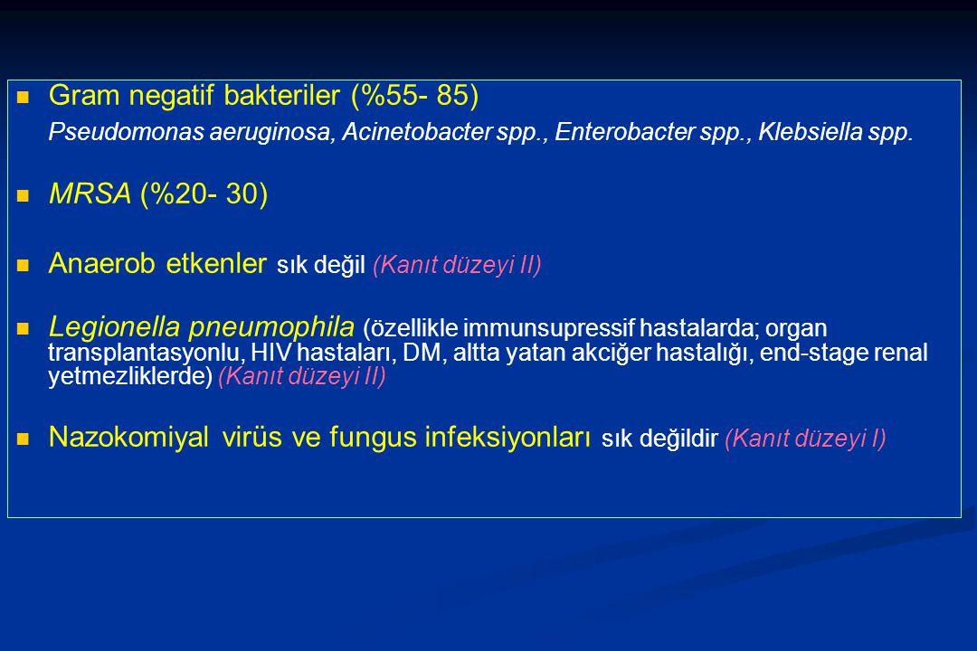 Gram negatif bakteriler (%55- 85)