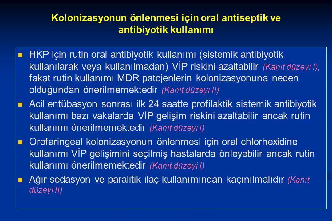 Kolonizasyonun önlenmesi için oral antiseptik ve antibiyotik kullanımı
