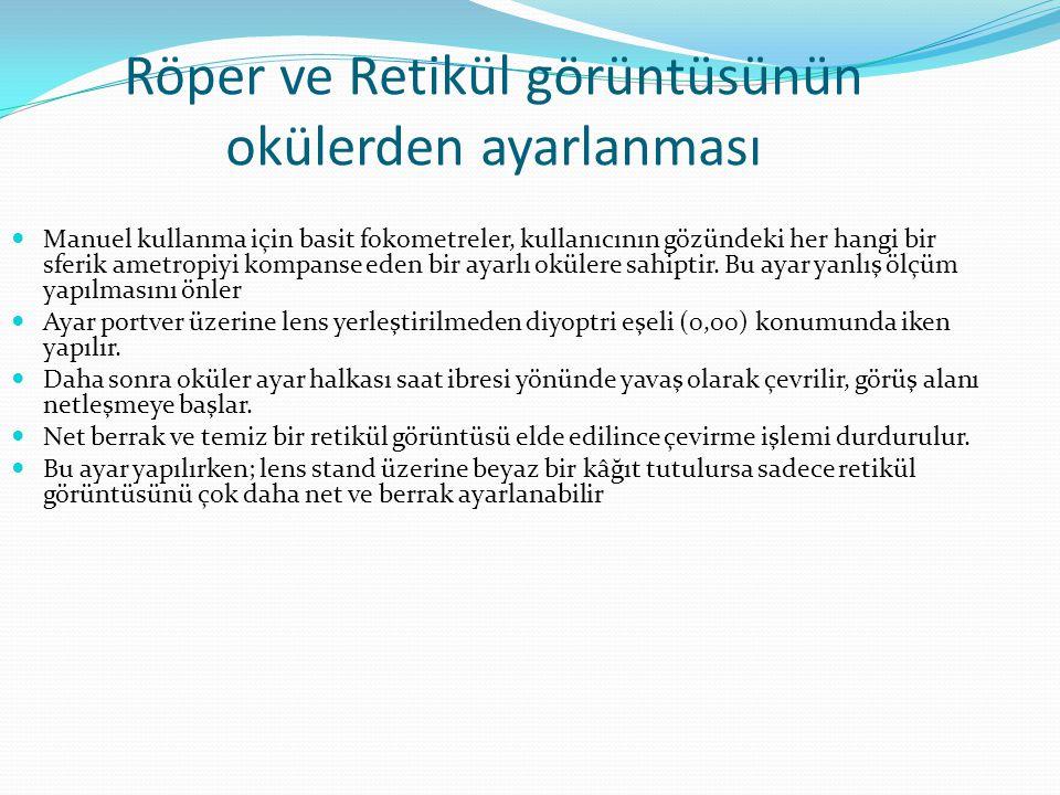 Röper ve Retikül görüntüsünün okülerden ayarlanması