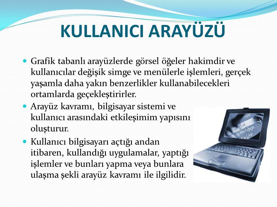KULLANICI ARAYÜZÜ