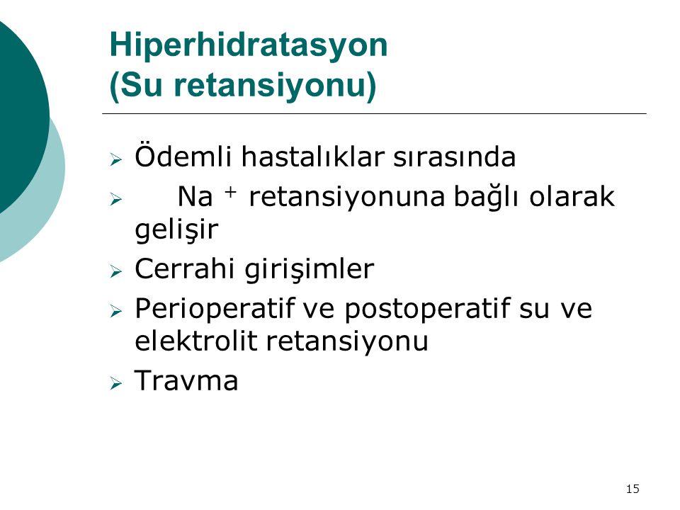 Hiperhidratasyon (Su retansiyonu)