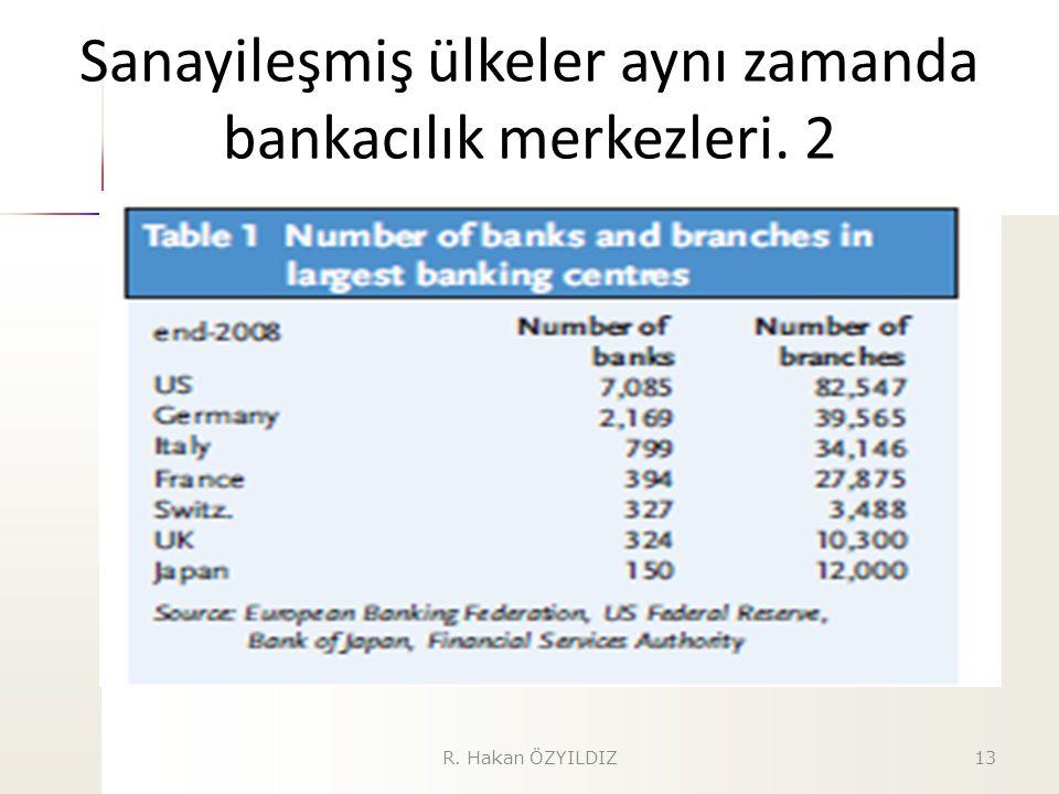 Sanayileşmiş ülkeler aynı zamanda bankacılık merkezleri. 2