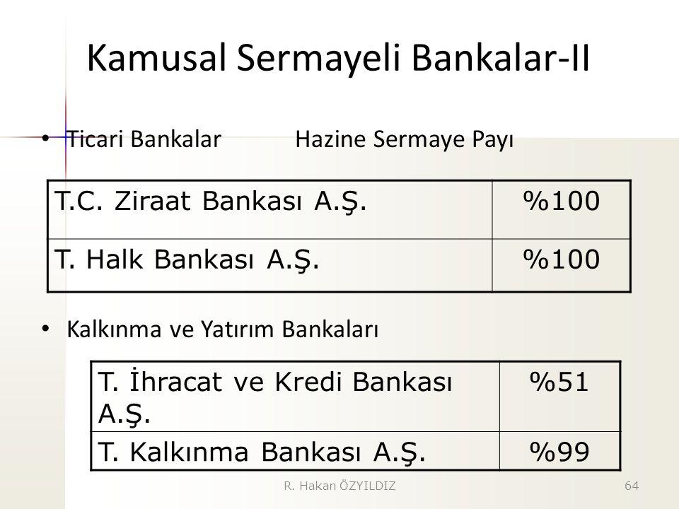 Kamusal Sermayeli Bankalar-II